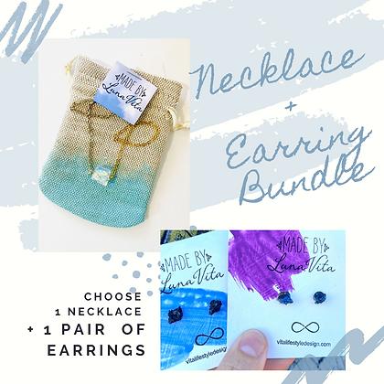 1 Necklace +1 Pair of Earrings Bundle