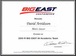 2019 BIG EAST DIV1 ALL ACADEMIC TEAM