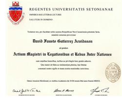 SHU Master Diploma