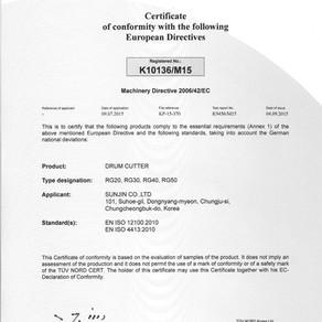 CE certificate of Rock Grinders