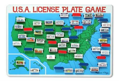 Flip to Win USA License Plate Game