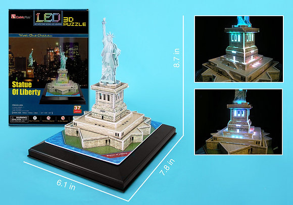 Statue of Liberty LED 3D Puzzle