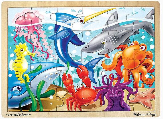 Melissa & Doug 24 Piece Wooden Puzzle- Underwater