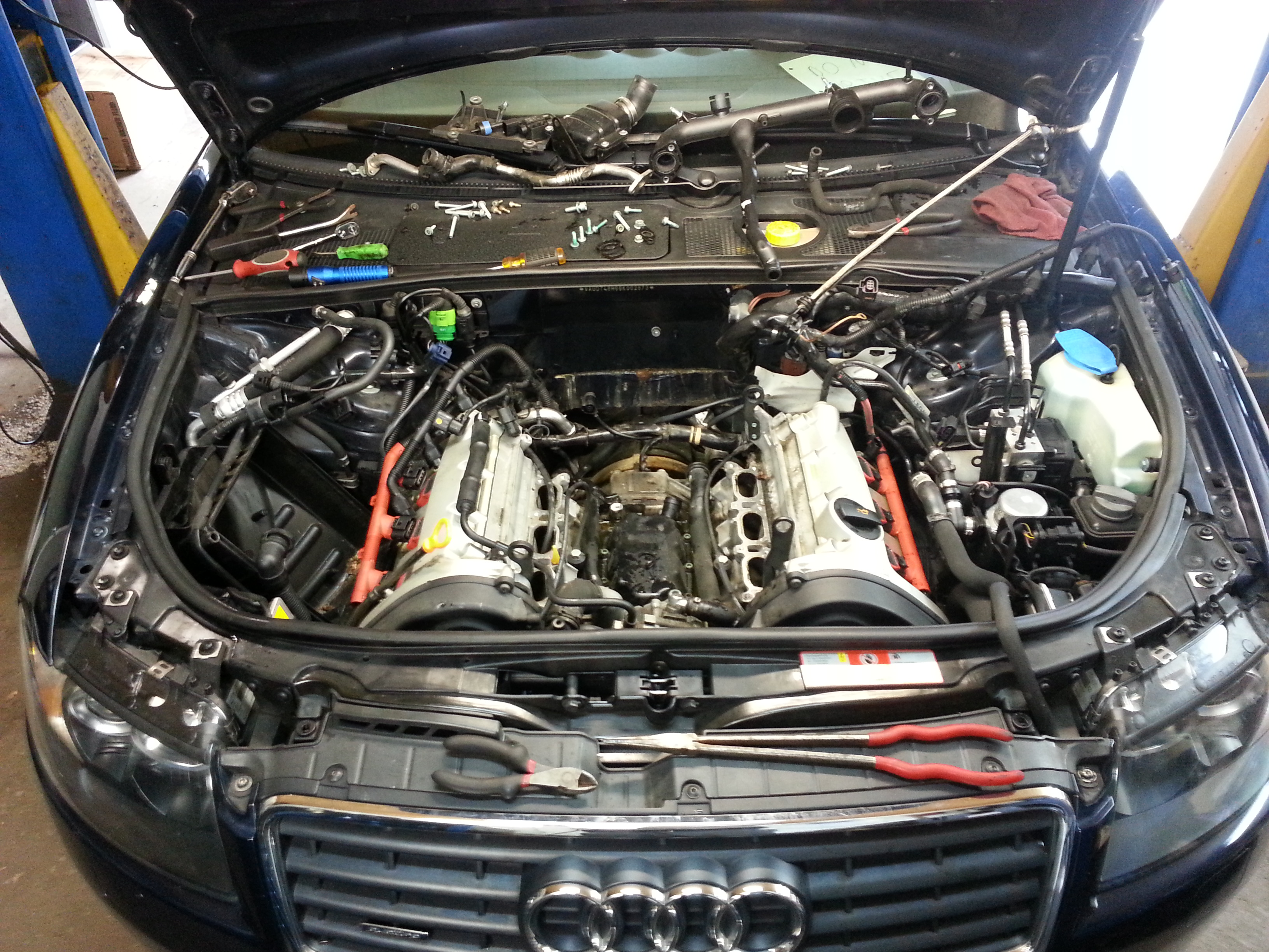 Audi coolant leak repair