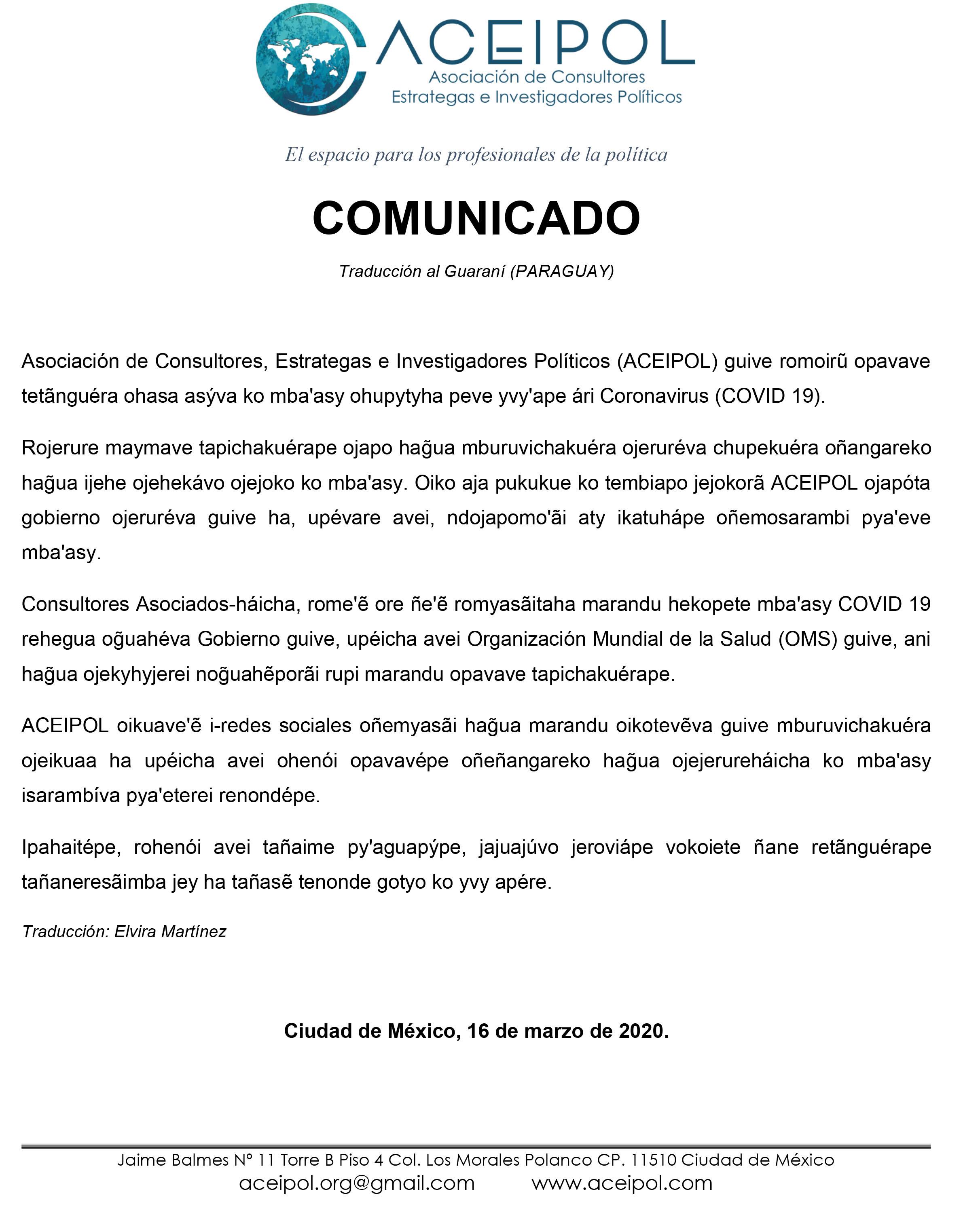 COMUNICADO_COVID_19_ACEIPOL_Guaraní-1