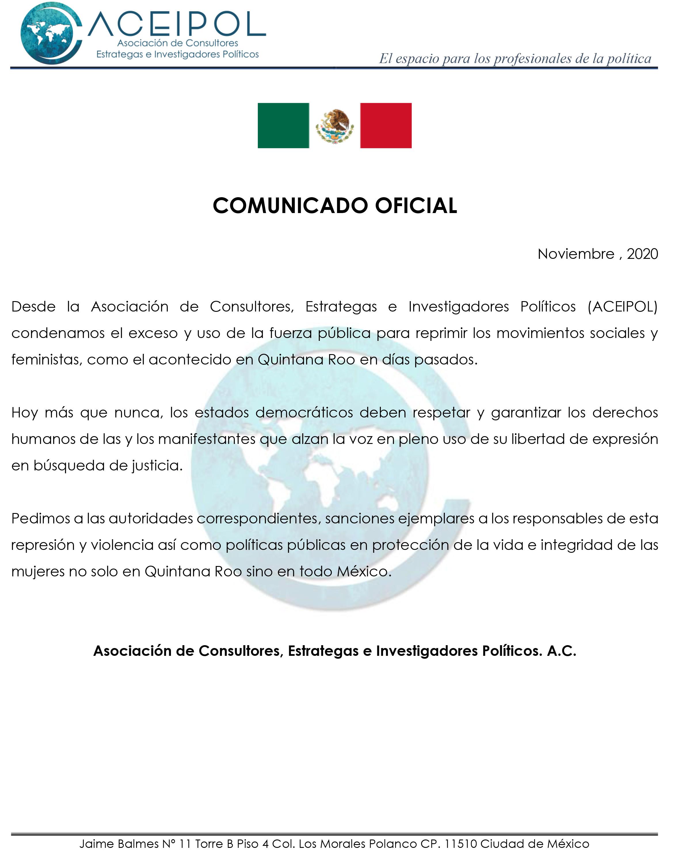 Comunicado Quintana Roo