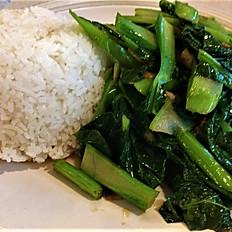 GĐ21. Vietnamese Watercress or Chinese Broccoli (Rau Muống hay Cải Làn Xào Tỏi)