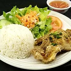 C6. Grilled Pork Chop Rice Platter (Cơm Sườn Nướng)