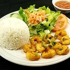 C7. Grilled Shrimp Rice Platter (Cơm Tôm Nướng)