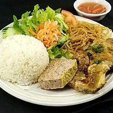 C3. Grilled Pork Chop Combo #3 (Cơm Sườn, Bì, Chả)