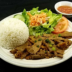C5. Choice of Grilled Pork, Beef or Chicken (Cơm Thịt Nướng)