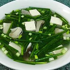 GĐ8. Tofu with Chives Soup (Canh Đậu Hũ Hẹ)
