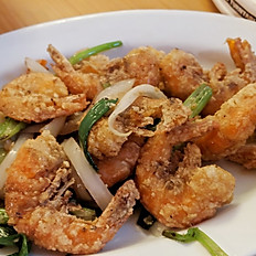 GĐ10. Pan Fried Salted Squid or Shrimp