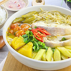 GĐ5. Vietnamese Sweet & Sour Fish or Shrimp Soup (Canh Chua Cá hay Tôm)