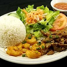C4. Grilled Pork & Shrimp Combo #4 (Cơm Tôm & Thịt Nướng)