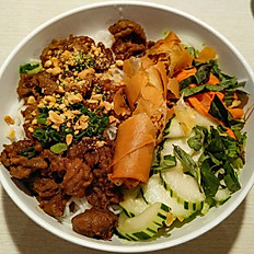 B5. Choice of Grilled Pork, Beef, or Chicken Vermicelli with Spring Roll