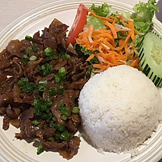 C5. Choice of Grilled Pork, Beef or Chicken (Cơm Thịt Nướng)