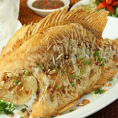 GĐ7. Golden Crispy-Fried Tilapia Fish (Cá Hồng Chiên Giòn)