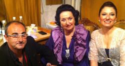 Montserrat Caballé y su hija...