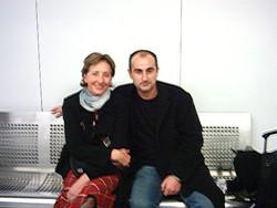 Con Mabel Ribera  actriz