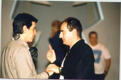 con Antonio hernandez en Plató