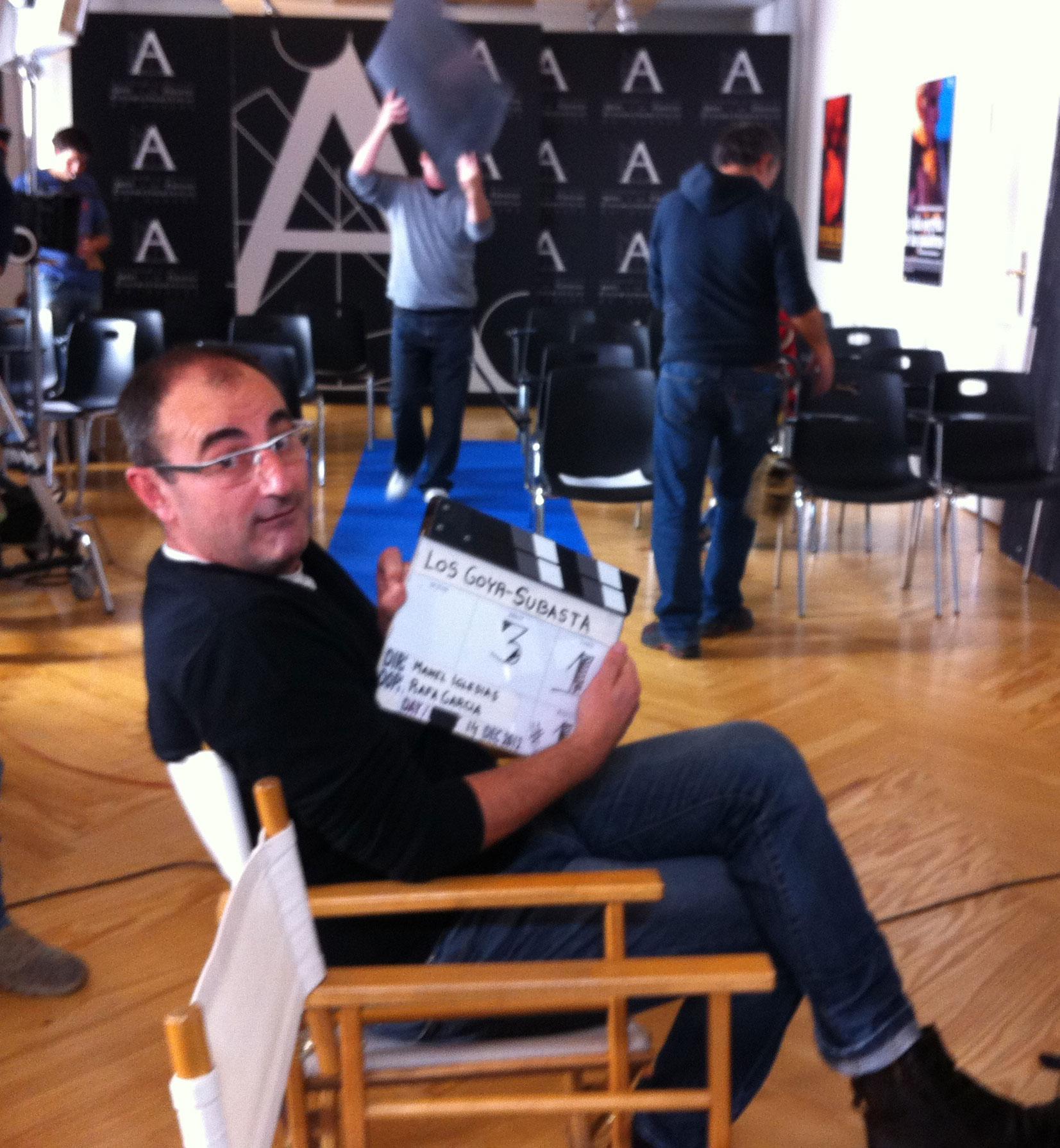 Grabando promo Premios Goyas 2013