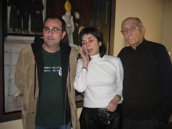 Con  Pilar del Rio y José Saramago.