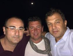 Con Javi y Diego Miralles en Panamá