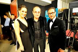 Celia Freijeiro, Manel Iglesias y Carlos Santos. Backstage.jpg
