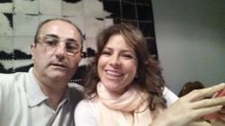 Con Alessandra Rosaldo