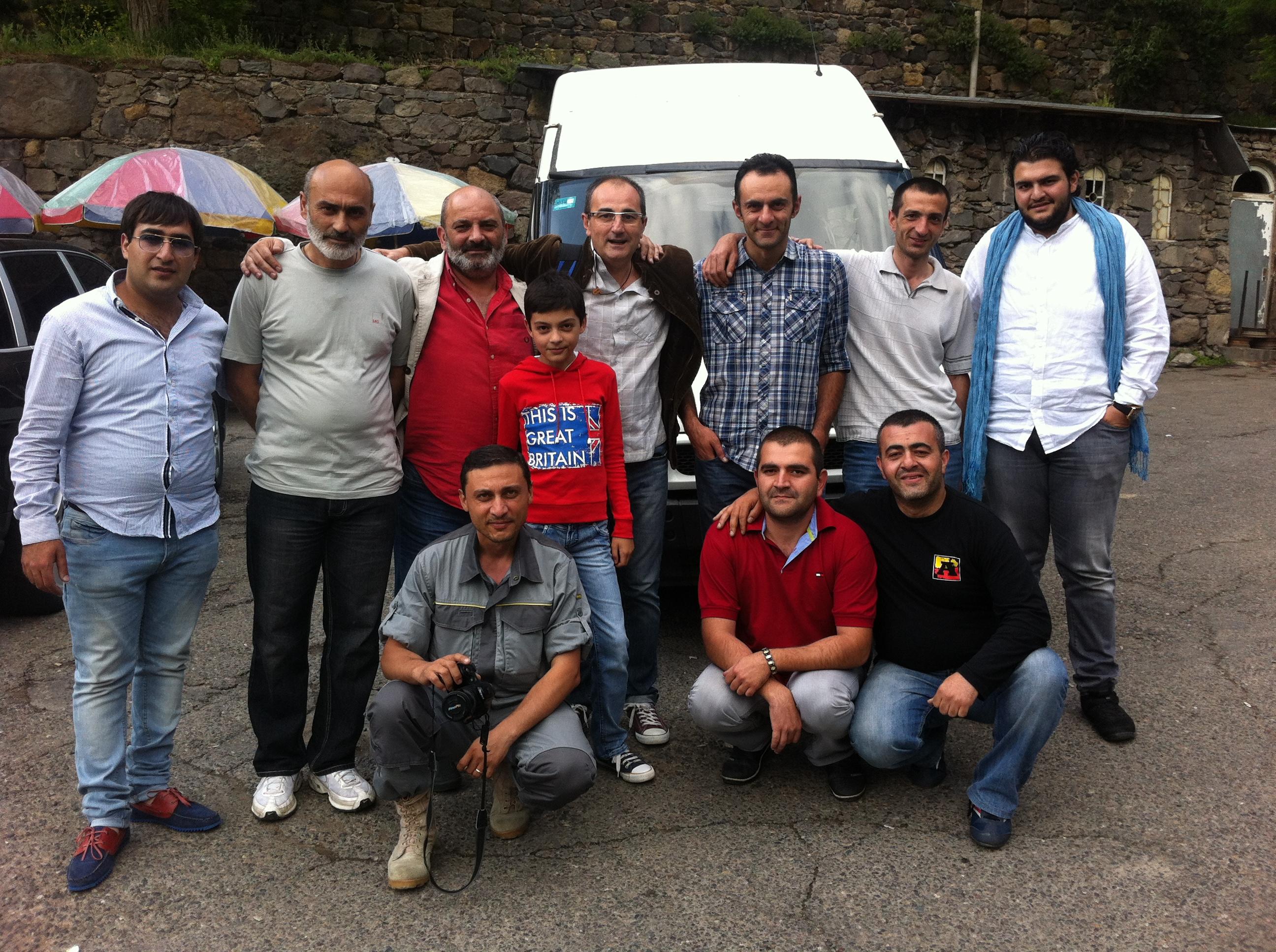 Equipo de rodaje en Armenia 2013