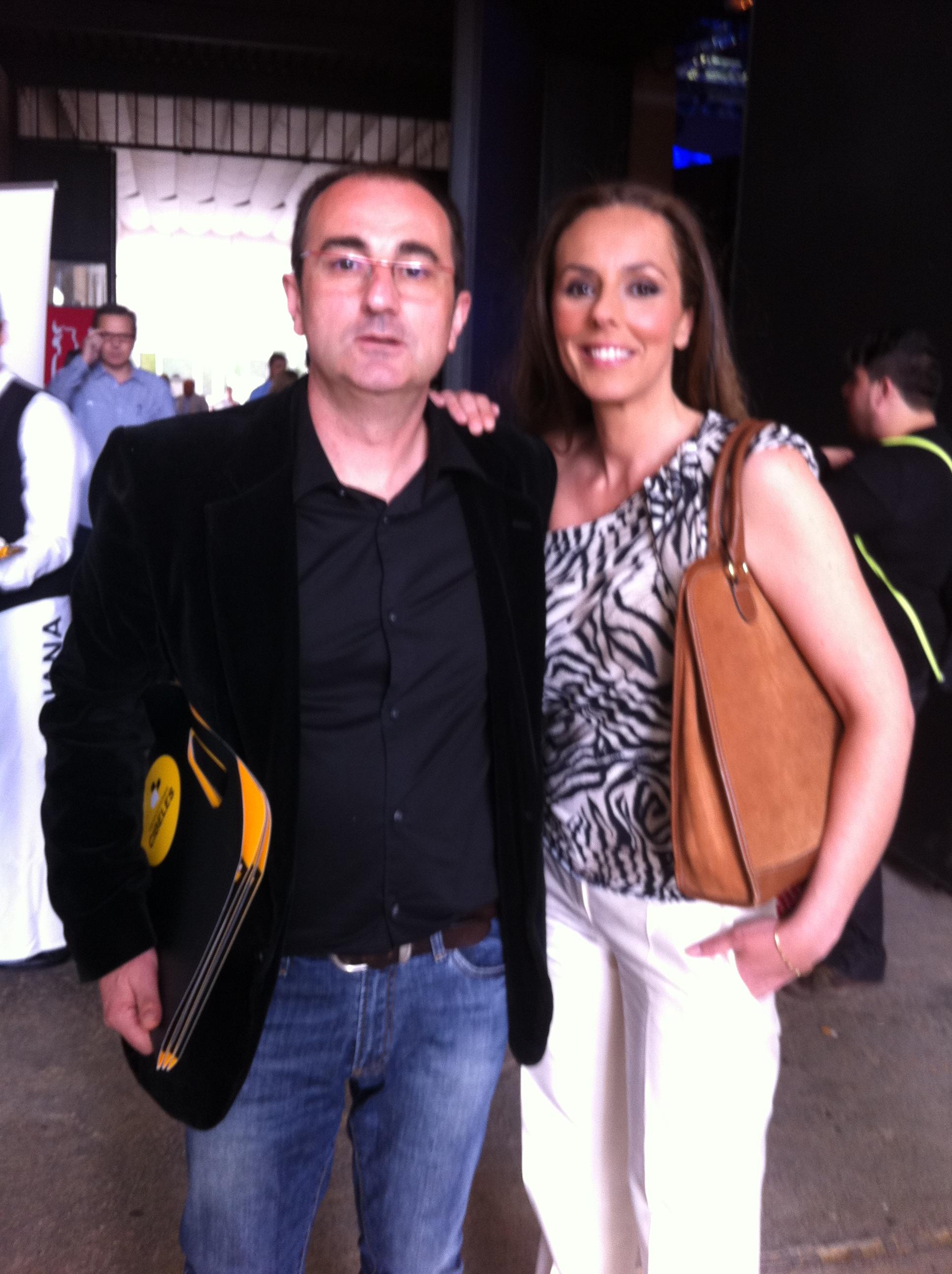 Con Rocio Carrasco en NPC Sevilla