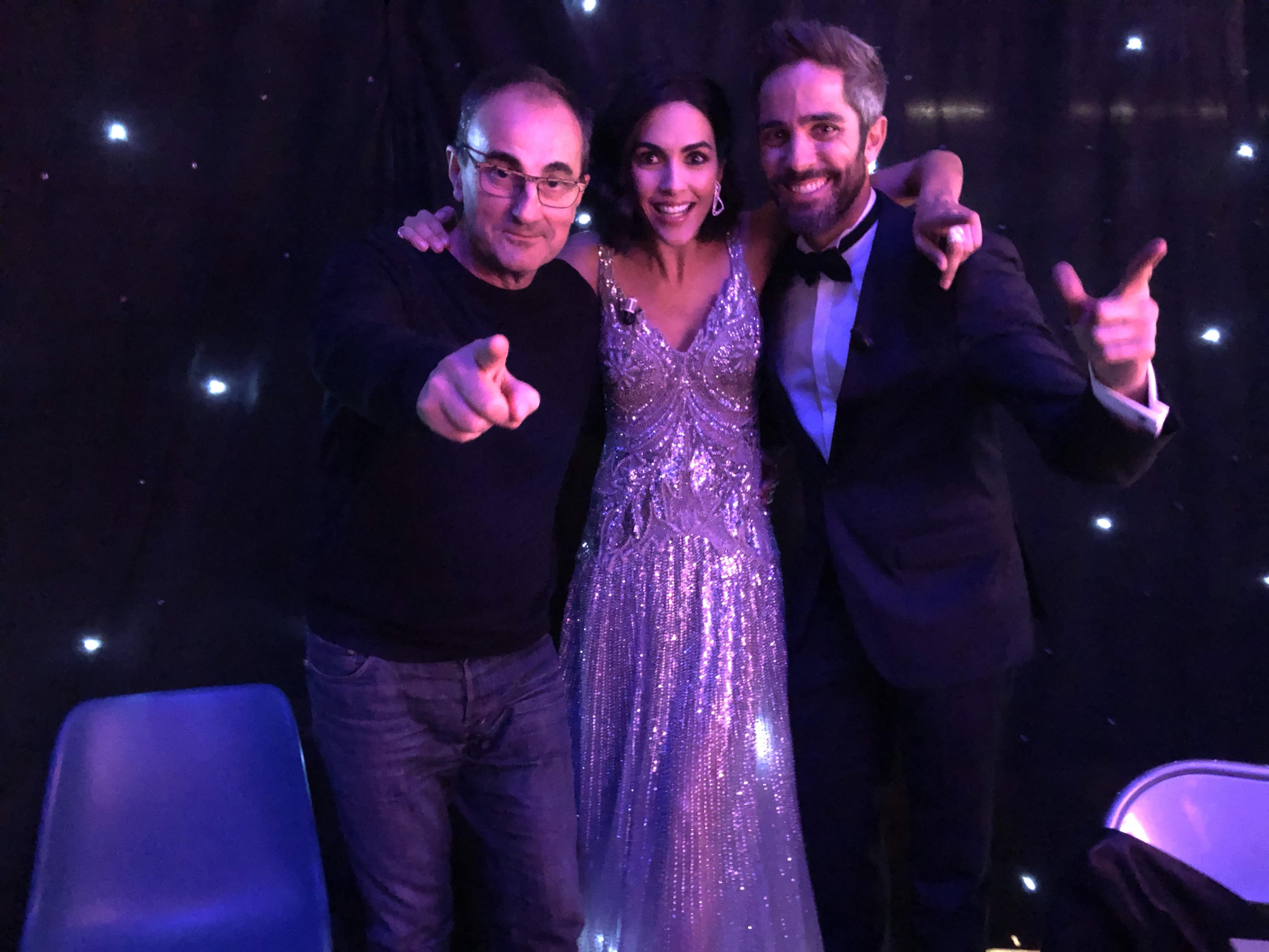 Con Rocio Muñoz y Roberto Leal