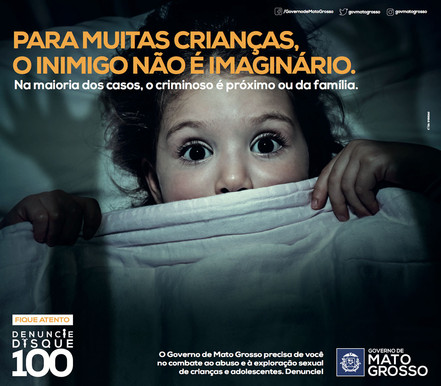 Campanha de combate ao abuso e à exploração sexual de crianças e adolescentes.