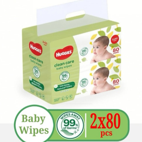 Huggies Baby Wipes 80pcs x 2packs