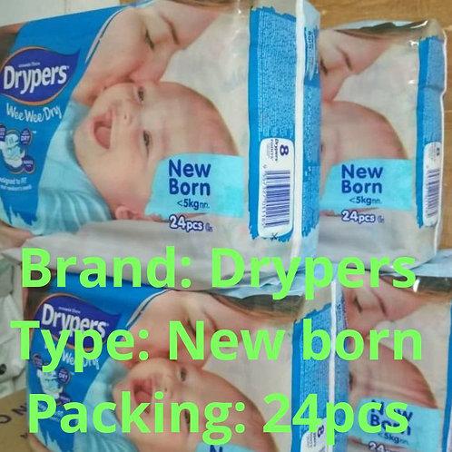 Drypers New Born 24pcs/pack