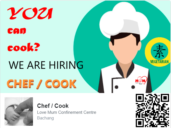 LVMCC Job Chef Cook Confinement Meal