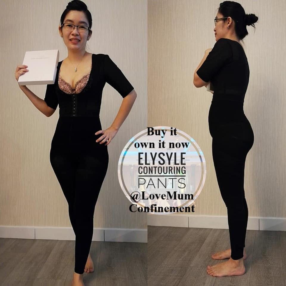 Sharing from Ms Moon Chan: 【生后的宝妈,最怕什么?😍】 两个宝妈的我。刚生产两个月半月,最怕就是屁股和盆骨大,幸好遇上了magic pants。穿上Elysyle Contouring Pant馬上收復,馬上修腰,太棒了。