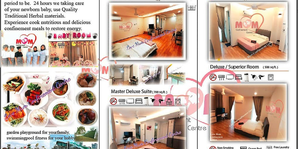 Love Mum Confinement Centre package - early bird offer & discount.