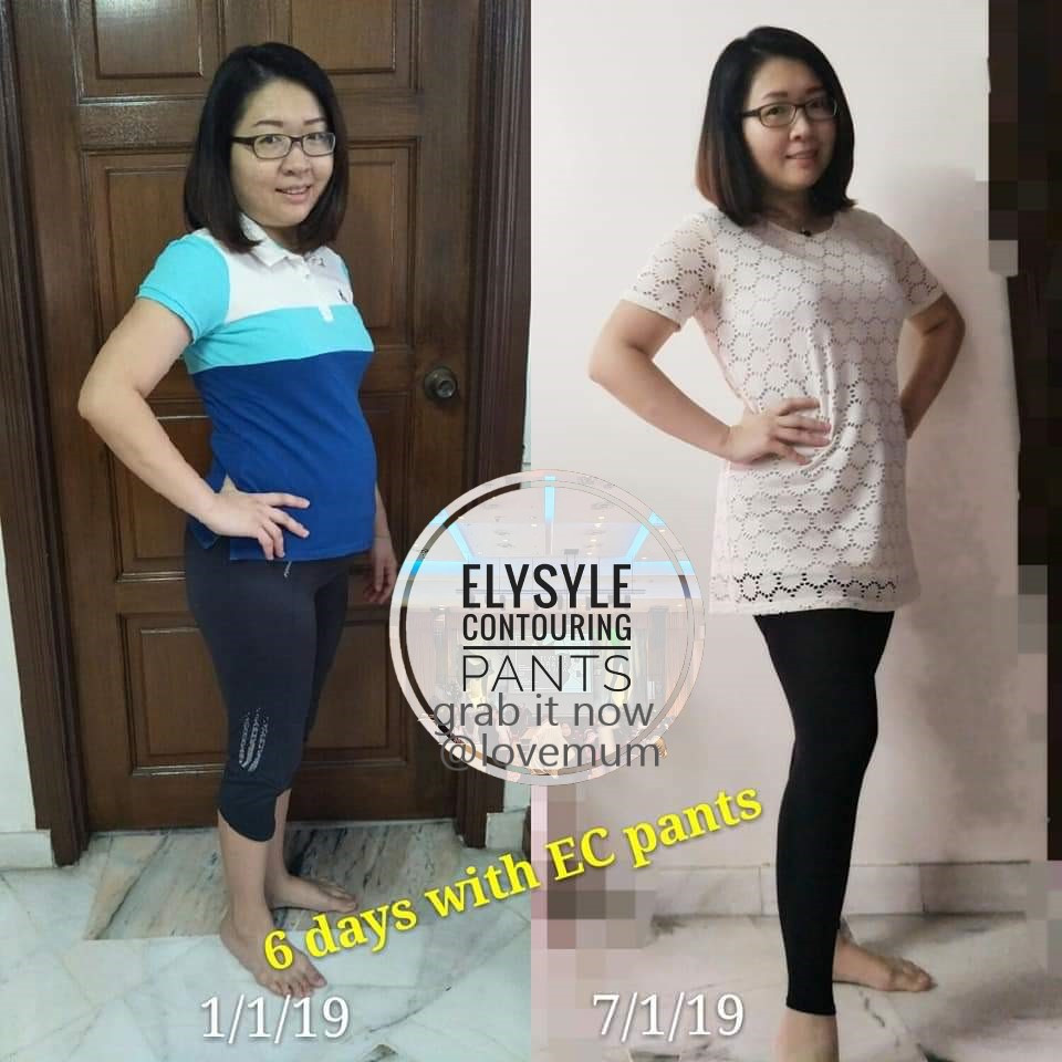 "太棒了!😍 谢谢Joanne妈咪的分享😘  ""我很开心在短短的6天就实现了我2019年的第一个梦想!🤩🎉🎉 我刚生了宝宝66天。 在穿了Elysyle Contouring Pants短短的6天后, 我的体重减轻了2kg,腰围减少了2cm。😍👍  I am very happy as my first dream on 2019 achieved just in 6 days. I lost 2kg in 6 days, and my waist also reduce 2cm. I just delivered baby 66 days.   Thanks to Elysyle Contouring Pants. 😘😘😘  简单穿❤轻松塑。 妈咪轻轻松松恢复少女般身材😁👍👍"""