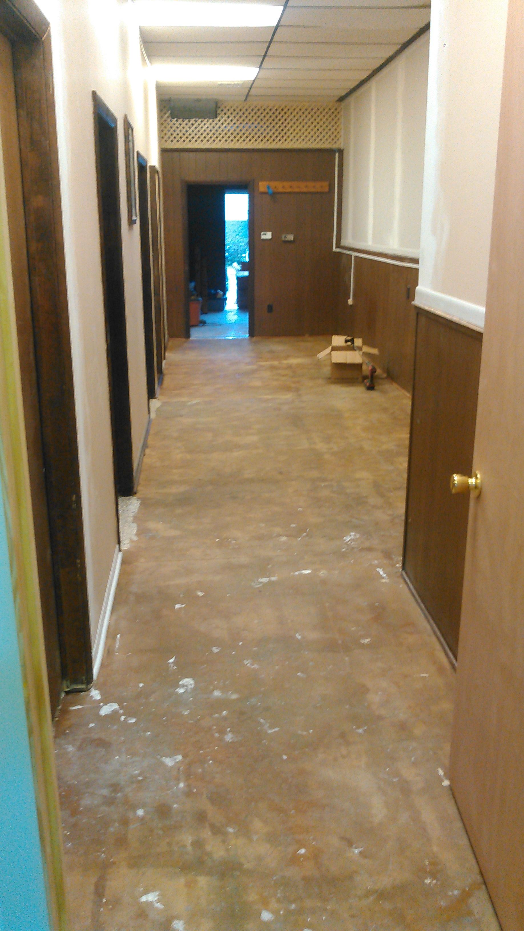 Designer Epoxy Floor Before