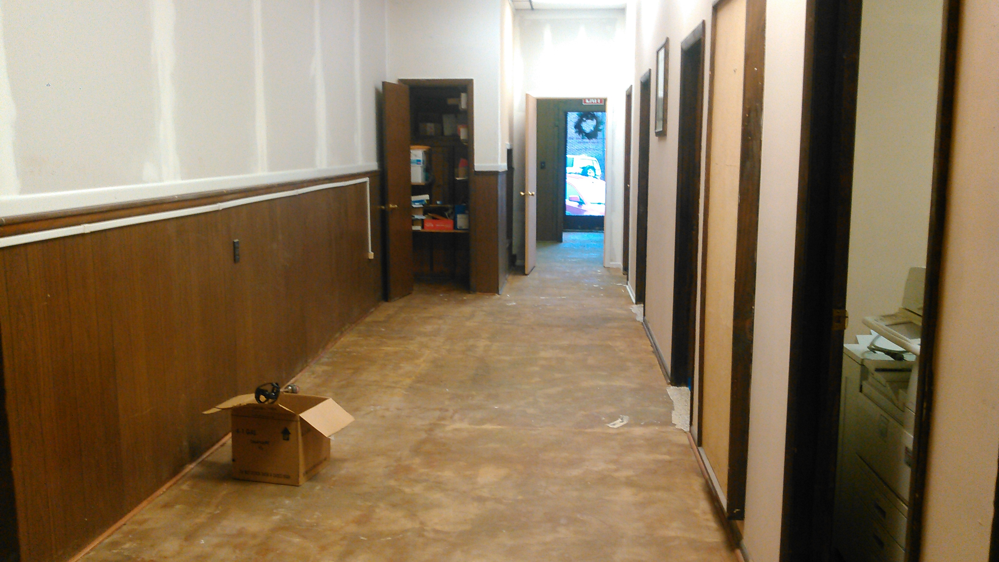 High Build Epoxy Floor Before