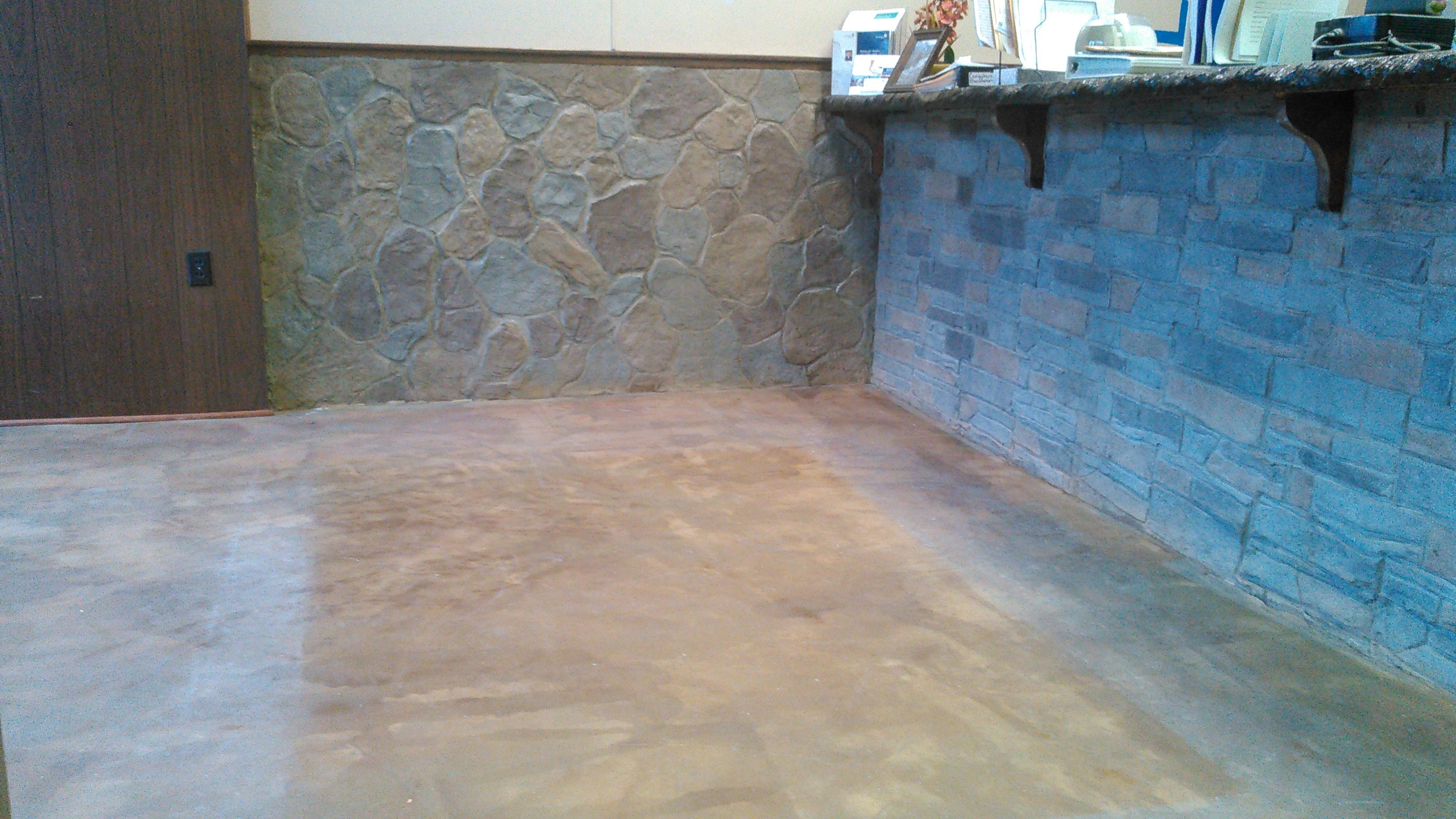 Metallic Epoxy Floor Before