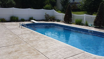 stamped concrete pool deck in binghamton, ny