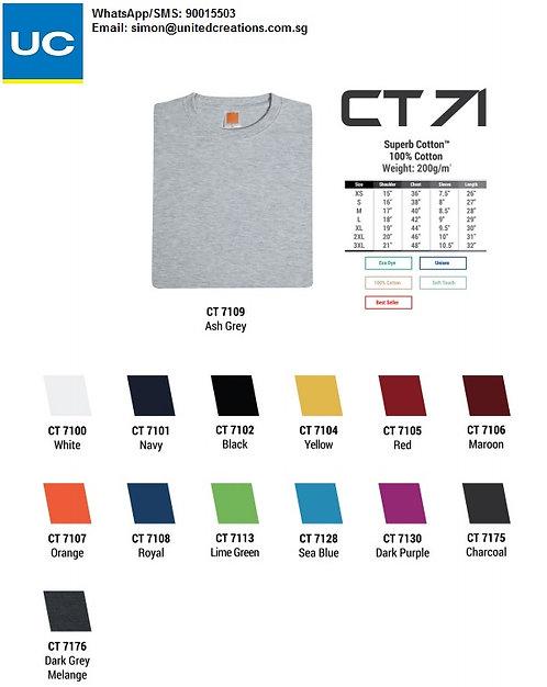 CT71 Cotton round neck