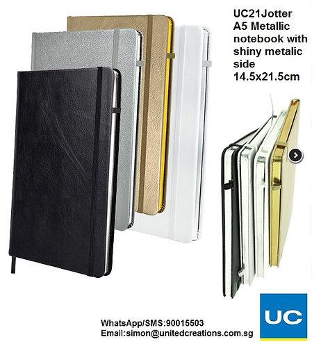 UC21Jotter A5 Metallic notebook with shiny metallic side