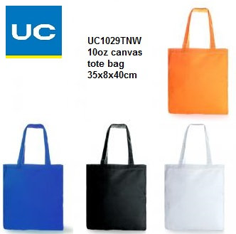 UC1029TNW 10oz canvas tote bag