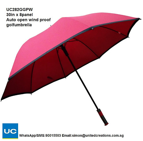 UC282GGPW 30in x 8panel Auto open wind proof golf umbrella