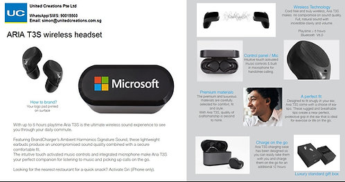 ARIA T3S wireless headset