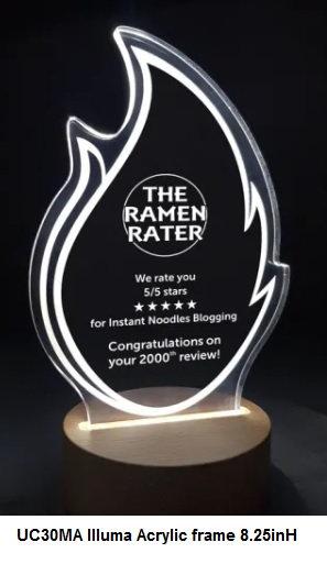 UC30MA Illuma acrylic award with laser engraving